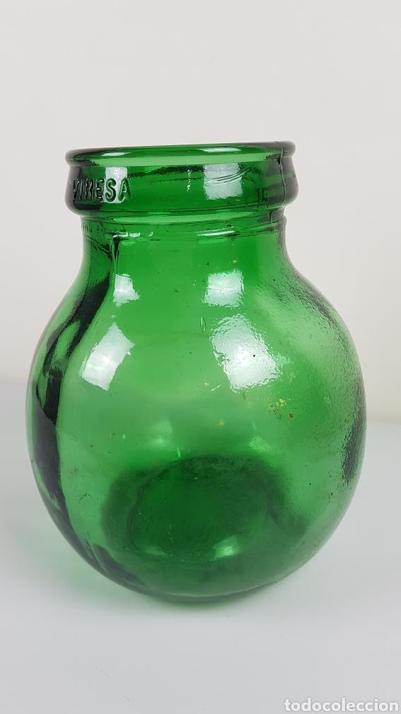 Antigüedades: Gran Bote, garrafa, Damajuana de Cristal Soplado- color verde - Viresa - idealpara decoración,etc - Foto 2 - 222392713