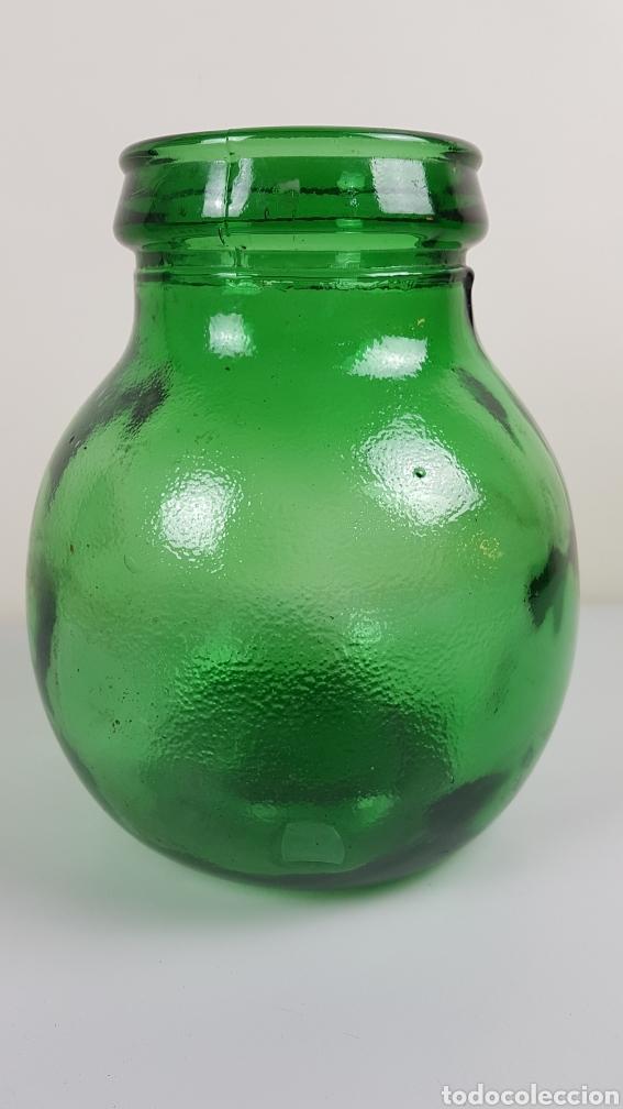 Antigüedades: Gran Bote, garrafa, Damajuana de Cristal Soplado- color verde - Viresa - idealpara decoración,etc - Foto 3 - 222392713