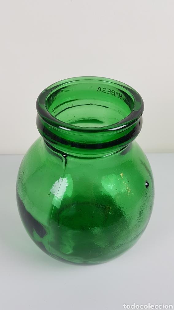 Antigüedades: Gran Bote, garrafa, Damajuana de Cristal Soplado- color verde - Viresa - idealpara decoración,etc - Foto 4 - 222392713