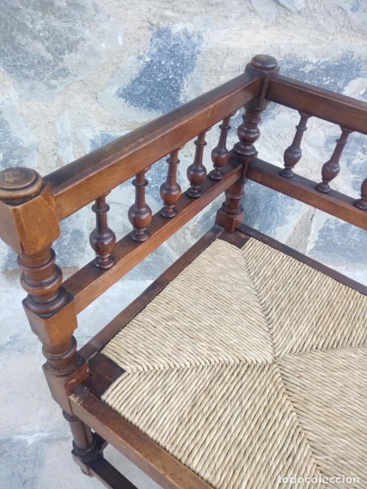 Antigüedades: Antigua silla de esquina de madera de cerezo silvestre y nea - Foto 4 - 222392736