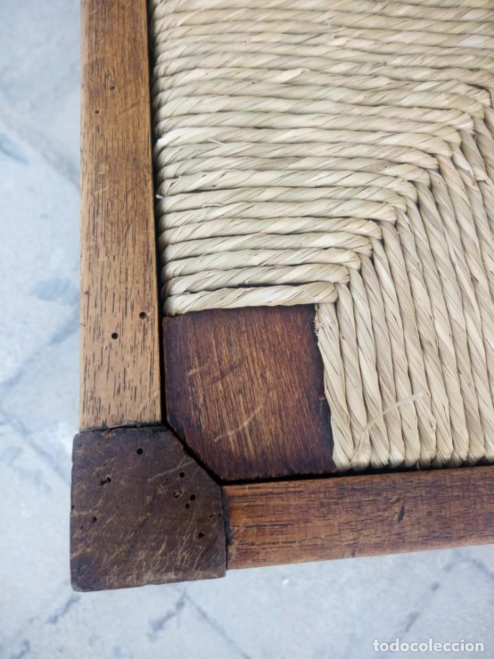 Antigüedades: Antigua silla de esquina de madera de cerezo silvestre y nea - Foto 7 - 222392736