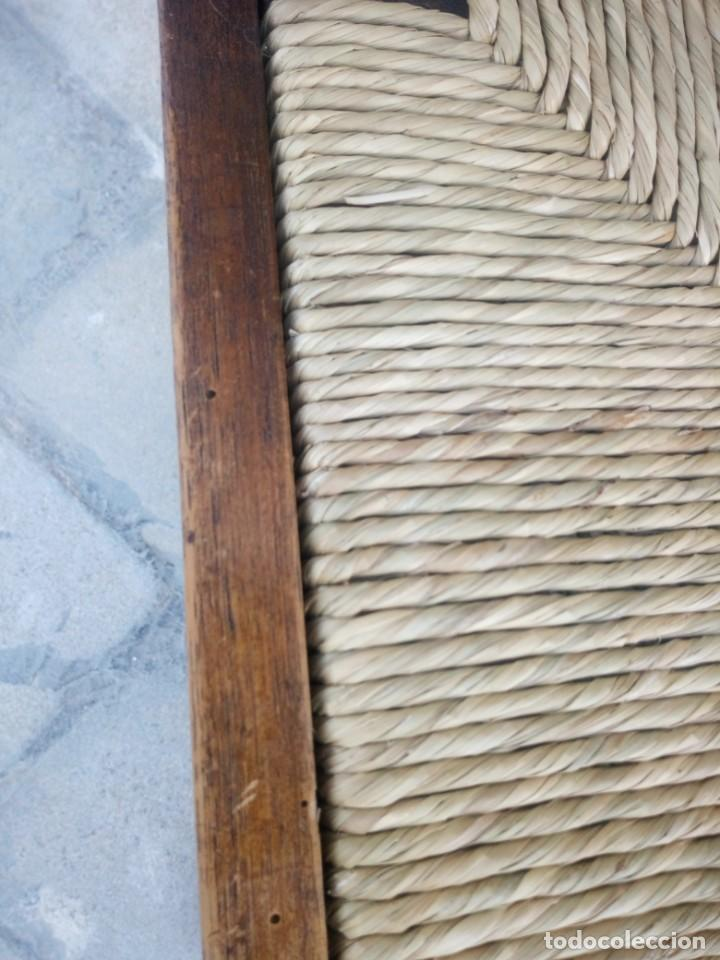 Antigüedades: Antigua silla de esquina de madera de cerezo silvestre y nea - Foto 8 - 222392736