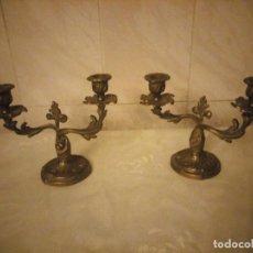 Antigüedades: ANTIGUOS CANDELABROS DE BRONCE AÑOS 20/30. Lote 222393977