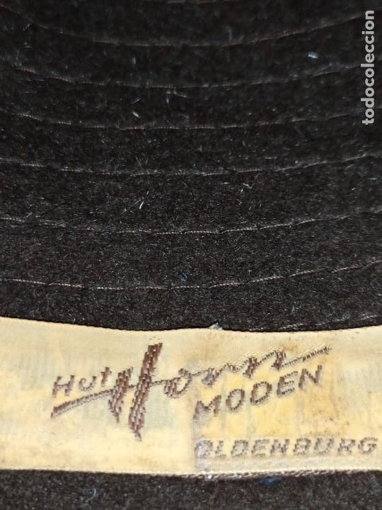 Antigüedades: ANTIGUO SOMBRERO HUT HORN MODEN OLDENBURG BONITO - Foto 2 - 222402577