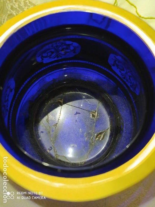Antigüedades: PRECIOSO TARRO DE VIDRIO DE BOHEMIA MOSER,S.XIX - Foto 7 - 222404006