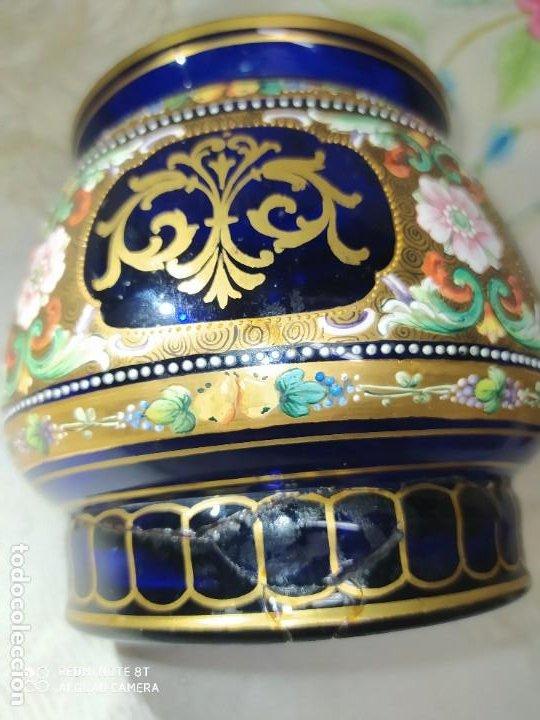 Antigüedades: PRECIOSO TARRO DE VIDRIO DE BOHEMIA MOSER,S.XIX - Foto 9 - 222404006