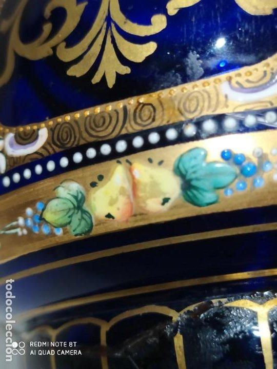 Antigüedades: PRECIOSO TARRO DE VIDRIO DE BOHEMIA MOSER,S.XIX - Foto 14 - 222404006