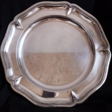 Antiguidades: GRAN FUENTE DE SERVIR 40 CM. BAÑADA EN PLATA. Lote 222410973