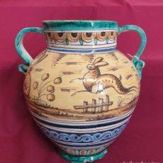 Antigüedades: MAGNIFICA ORZA POLICROMADA EN CERAMICA DE TRIANA,(SEVILLA),PRINCIPIOS DEL S. XX. Lote 222415026