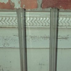Oggetti Antichi: PAREJA DE FLOREROS DE CRISTAL. Lote 222433100