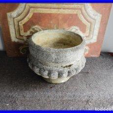 Antigüedades: MACETERO O JARDINERA DE PIEDRA. Lote 222442540