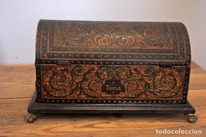 Antigüedades: Hijos de Luca de Tena, preciosa caja / cofre antigua. Cordóba, Águila bicéfala. Lujo - Foto 4 - 222443312