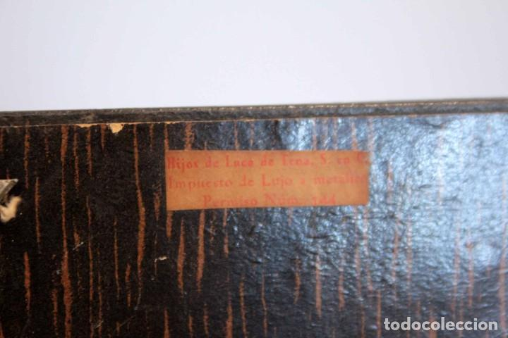 Antigüedades: Hijos de Luca de Tena, preciosa caja / cofre antigua. Cordóba, Águila bicéfala. Lujo - Foto 11 - 222443312