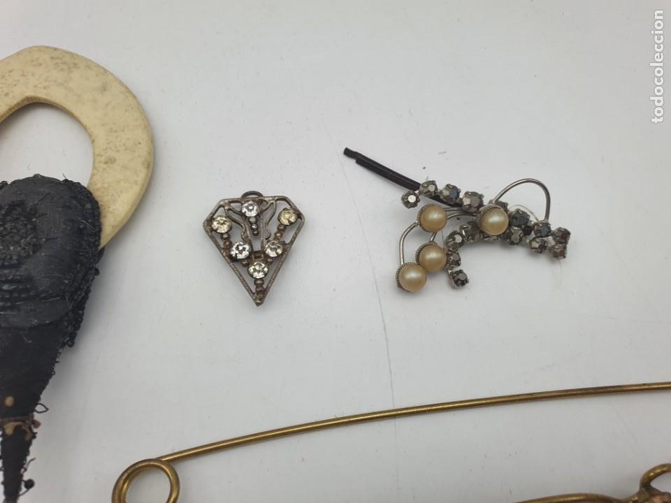 Antigüedades: LOTE BROCHES DE AGUJA VINTAGE ( ALGUNOS PARA RESTAURAR ) - Foto 6 - 222444565