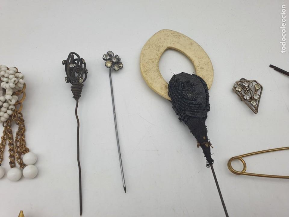 Antigüedades: LOTE BROCHES DE AGUJA VINTAGE ( ALGUNOS PARA RESTAURAR ) - Foto 7 - 222444565