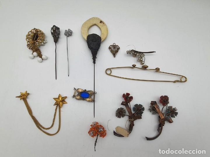 Antigüedades: LOTE BROCHES DE AGUJA VINTAGE ( ALGUNOS PARA RESTAURAR ) - Foto 18 - 222444565