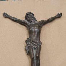 Antigüedades: CRISTO DE BRONCE. Lote 222445100