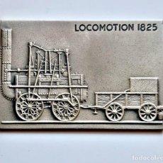 Antigüedades: 1825 FF.CC LINGOTE PLACA LOCOMOTORAS - 60 X 40.MM NIQUEL, PLATA Y ZINC - 39,86.GRAMOS. Lote 222505926
