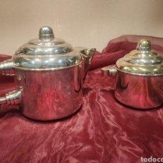 Antigüedades: CAFETERA Y AZUCARERA. MODERNISMO.. Lote 222508230