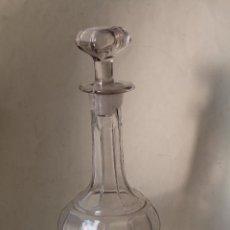 Antigüedades: BOTELLA LICORERA CRISTAL PRENSADO SANTA LUCIA - CARTAGENA - S.XX. Lote 222517428