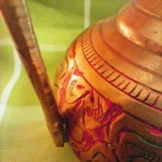 Antigüedades: TETERA DE BRONCE/COBRE. BUENAS CONDICIONES. 23 CTMS. ALTURA. DESCRIPCION Y FOTOS.. Lote 222521537