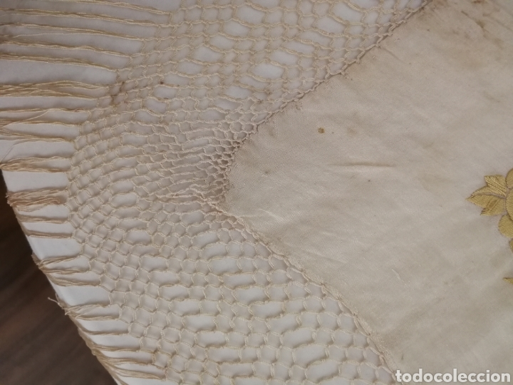 Antigüedades: ANTIGUO MANTON DE MANILA SIGLO XIX BORDADO - Foto 7 - 222522488