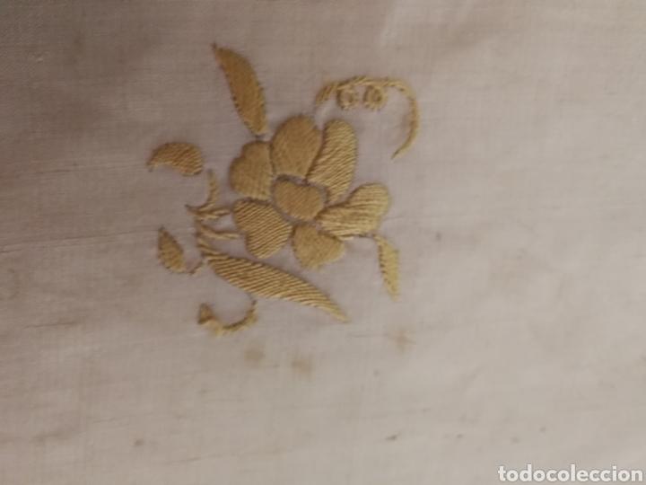 Antigüedades: ANTIGUO MANTON DE MANILA SIGLO XIX BORDADO - Foto 8 - 222522488