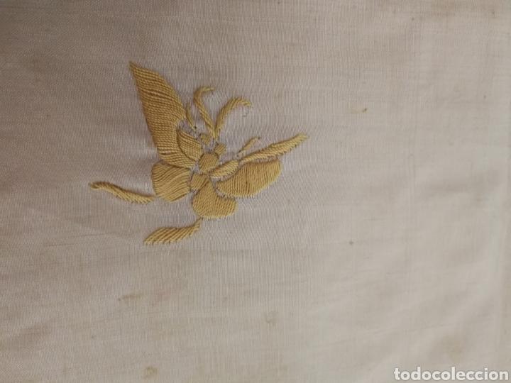 Antigüedades: ANTIGUO MANTON DE MANILA SIGLO XIX BORDADO - Foto 9 - 222522488