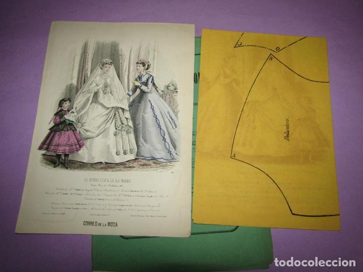 ANTIGUO EL CORREO DE LA MODA, ÁLBUM DE SEÑORITAS Nº 662 CON LAMINA LITOGRAFIADA DEL AÑO 1866 (Antigüedades - Moda y Complementos - Mujer)