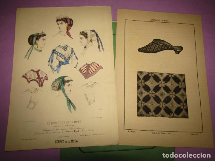 Antigüedades: Antiguo EL CORREO DE LA MODA, Álbum de Señoritas Nº 664 con Lamina Litografiada del Año 1866 - Foto 2 - 222542770