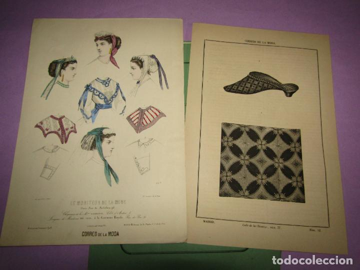 ANTIGUO EL CORREO DE LA MODA, ÁLBUM DE SEÑORITAS Nº 664 CON LAMINA LITOGRAFIADA DEL AÑO 1866 (Antigüedades - Moda y Complementos - Mujer)