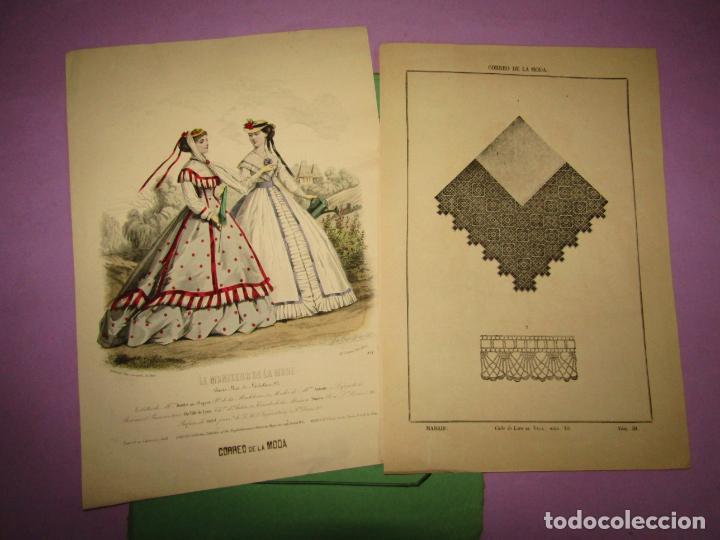 ANTIGUO EL CORREO DE LA MODA, ÁLBUM DE SEÑORITAS Nº 657 CON LAMINA LITOGRAFIADA DEL AÑO 1866 (Antigüedades - Moda y Complementos - Mujer)