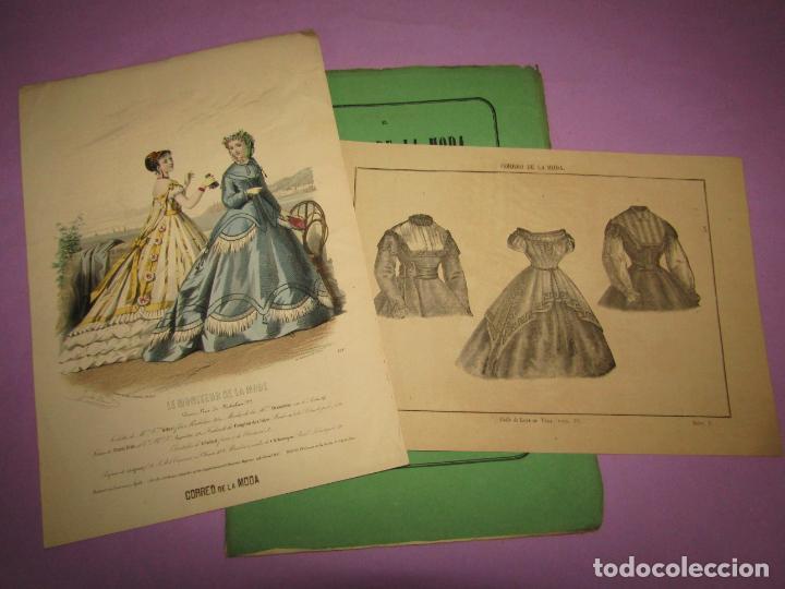 ANTIGUO EL CORREO DE LA MODA, ÁLBUM DE SEÑORITAS Nº 659 CON LAMINA LITOGRAFIADA DEL AÑO 1866 (Antigüedades - Moda y Complementos - Mujer)