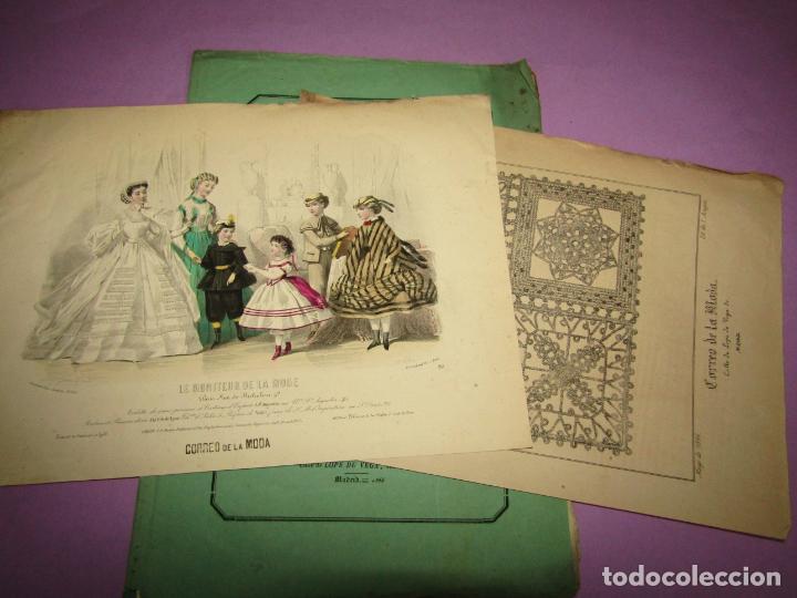 ANTIGUO EL CORREO DE LA MODA, ÁLBUM DE SEÑORITAS Nº 641 CON LAMINA LITOGRAFIADA DEL AÑO 1866 (Antigüedades - Moda y Complementos - Mujer)