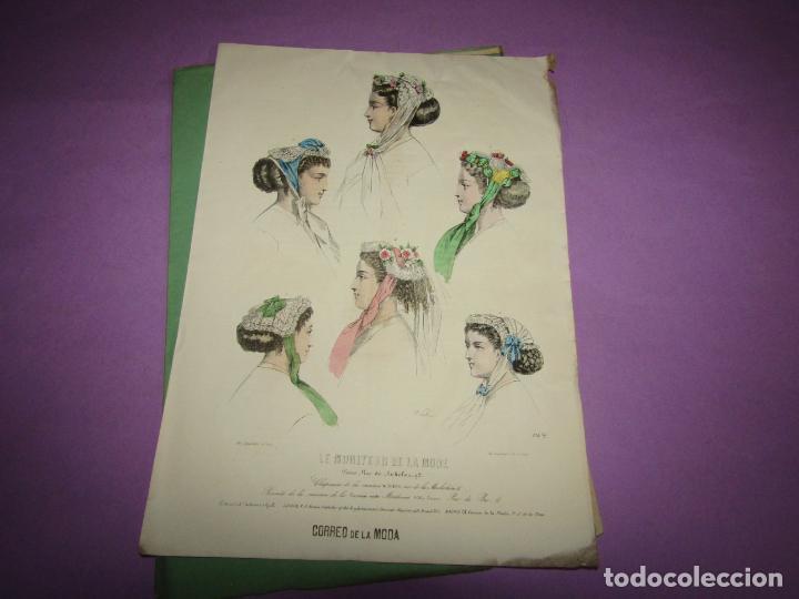 ANTIGUO EL CORREO DE LA MODA, ÁLBUM DE SEÑORITAS Nº 640 CON LAMINA LITOGRAFIADA DEL AÑO 1866 (Antigüedades - Moda y Complementos - Mujer)