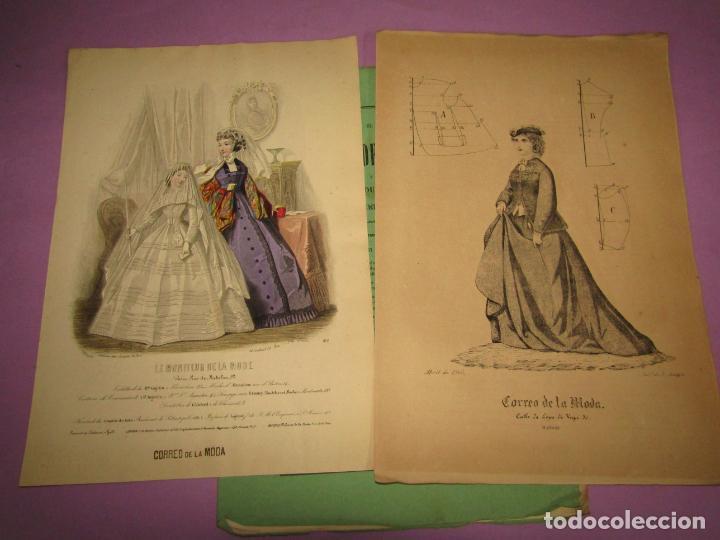 ANTIGUO EL CORREO DE LA MODA, ÁLBUM DE SEÑORITAS Nº 639 CON LAMINA LITOGRAFIADA DEL AÑO 1866 (Antigüedades - Moda y Complementos - Mujer)