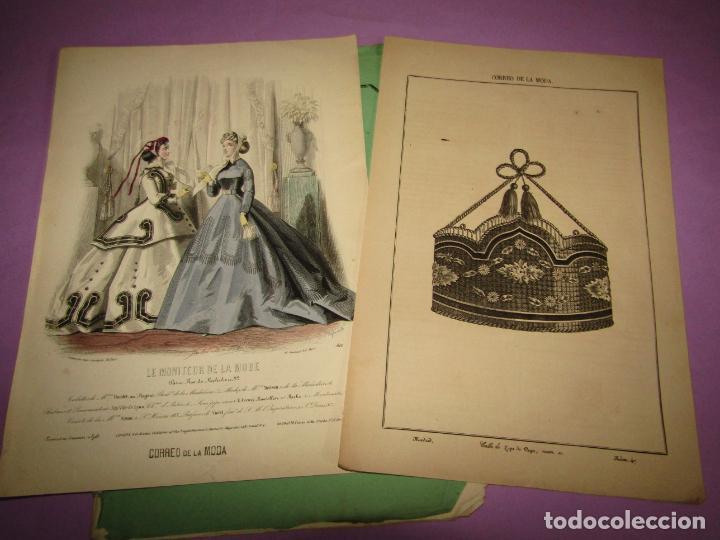 ANTIGUO EL CORREO DE LA MODA, ÁLBUM DE SEÑORITAS Nº 637 CON LAMINA LITOGRAFIADA DEL AÑO 1866 (Antigüedades - Moda y Complementos - Mujer)