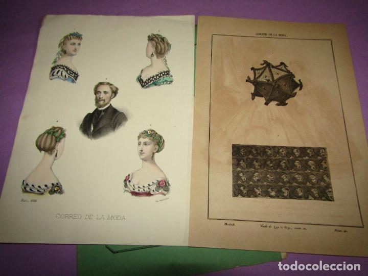 ANTIGUO EL CORREO DE LA MODA, ÁLBUM DE SEÑORITAS Nº 635 CON LAMINA LITOGRAFIADA DEL AÑO 1866 (Antigüedades - Moda y Complementos - Mujer)