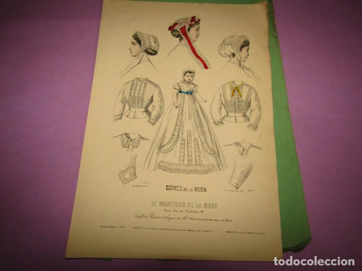 ANTIGUO EL CORREO DE LA MODA, ÁLBUM DE SEÑORITAS Nº 636 CON LAMINA LITOGRAFIADA DEL AÑO 1866 (Antigüedades - Moda y Complementos - Mujer)
