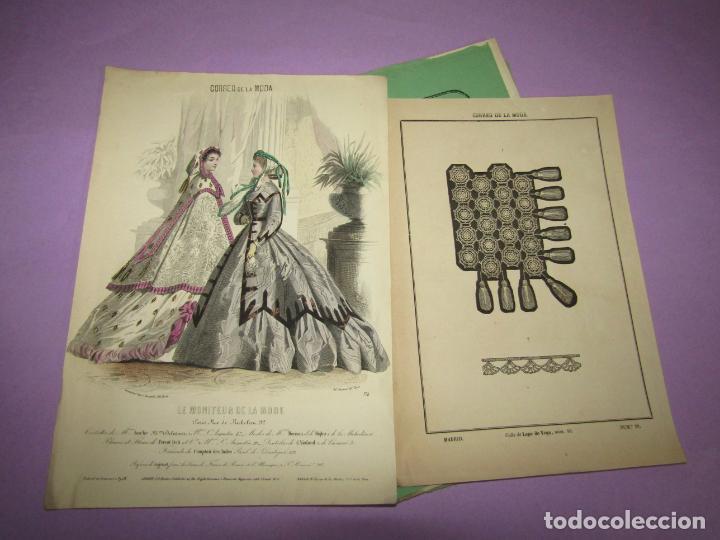 ANTIGUO EL CORREO DE LA MODA, ÁLBUM DE SEÑORITAS Nº 589 CON LAMINA LITOGRAFIADA DEL AÑO 1865 (Antigüedades - Moda y Complementos - Mujer)