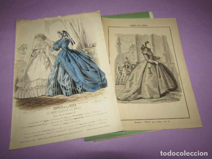 ANTIGUO EL CORREO DE LA MODA, ÁLBUM DE SEÑORITAS Nº 590 CON LAMINA LITOGRAFIADA DEL AÑO 1865 (Antigüedades - Moda y Complementos - Mujer)