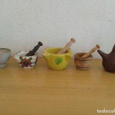 Antigüedades: 3 MORTEROS ANTIGUOS TAZON Y PORRON. Lote 222550767