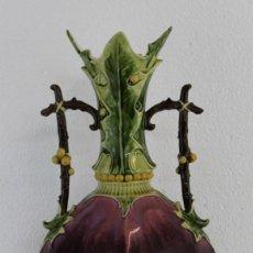 Antigüedades: JARRÓN EN PORCELANA AUSTRIA CON SELLO JULIUS DRESSLER DE ÉPOCA ART NOUVEAU. Lote 222555096