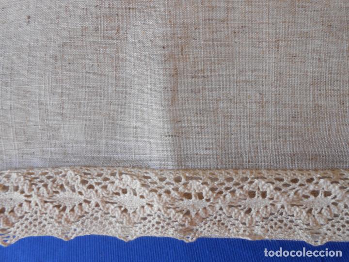 Antigüedades: Preciosa funda cojin.45x45 cm.Liso Con puntilla.BEIGE .Nuevo - Foto 5 - 278325553