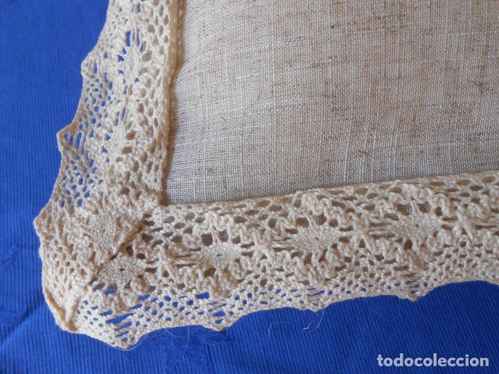 Antigüedades: Preciosa funda cojin.45x45 cm.Liso Con puntilla.BEIGE .Nuevo - Foto 7 - 278325553