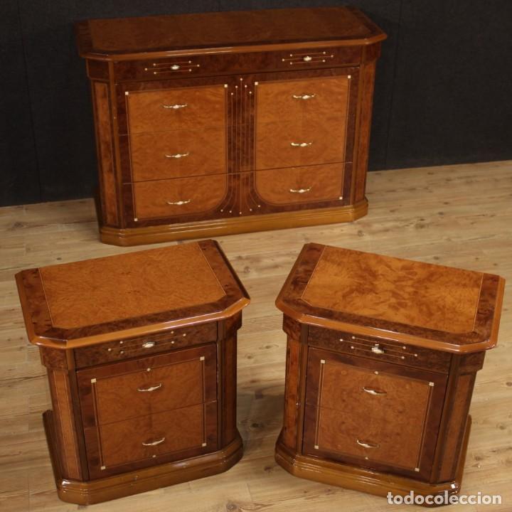 Antigüedades: Cómoda italiana en nogal, palisandro, haya, madera de frutas - Foto 2 - 222558371
