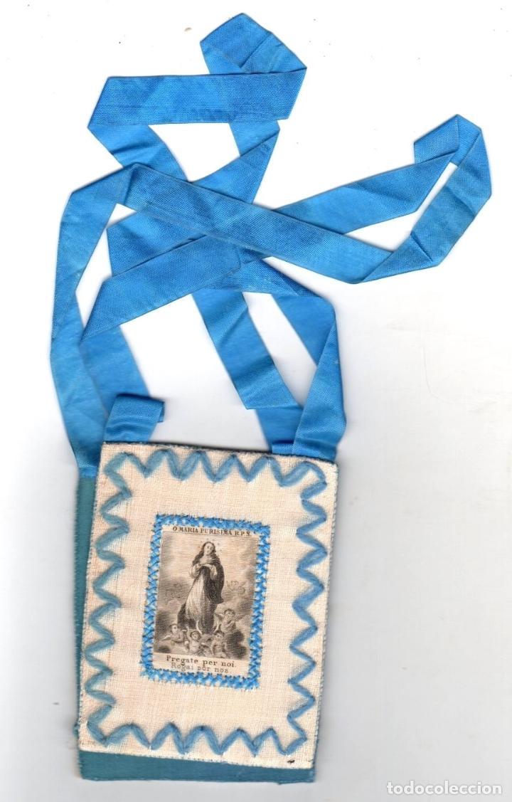 ESCAPULARIO PURISIMA CONCEPCION. SIGLO XIX (Antigüedades - Religiosas - Escapularios Antiguos)