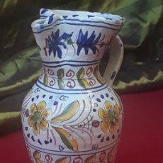 Antigüedades: JARRA VINATERA EN CERAMICA DE TALAVERA ( TOLEDO ) - PINTADA Y VIDRIADA.. Lote 222568350