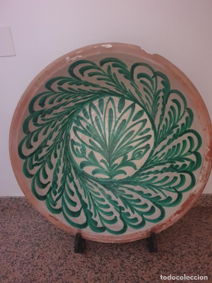 FANTÁSTICO LEBRILLO FAJALAUZA 84 CM GRANDES DIMENSIONES (Antigüedades - Porcelanas y Cerámicas - Fajalauza)