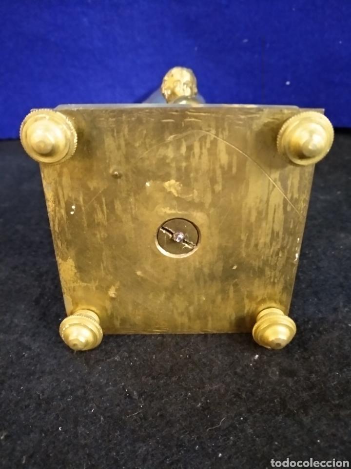 Antigüedades: Magnífico y antiguo florero bronce cristal y Onix. Modernista - Foto 7 - 222572977